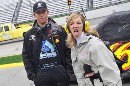 27-28 March, 2009, Martinsville, Virginia USA Brian Scott and Krista Voda ©2009, LAT South, USA LAT Photographic