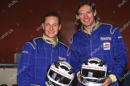 2001 Sparks Karting Event, Daytona Race Way, London 16th November 2001 The Gold medalist from the coxless four,Tim Foster and Champion Jockey, Richard Dunnwoody . World Copyright - LAT Photographic