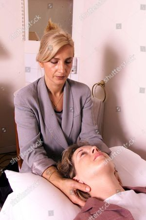 Stock Photo of Spiritual Healer Seka Nikolic From The Hale Clinic London Who Treated Prince Andrew With Mail Reporter Deborah Collcutt.