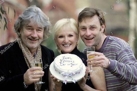Willy Russell Who Wrote Blood Brothers With The Show's Actors; Lyn Paul And Jason Griffiths Who Both Celebrate Their Birthdays Tomorrow.