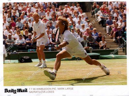 Martina Navratilova And Doubles Partner John Stark Lose At Wimbledon. Pkt5124-380203