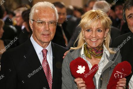 Franz Beckenbauer and Christa Kinshofer