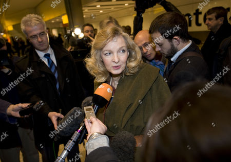 Lady Michele Renouf Who Was Waiting At Heathrow Airport For Smirking Holocaust Denier Bishop Richard Williamson Of The Society Of St Pius X Who Returned To Britain From Buenos Aires Argentina Where He Was Given Ten Days To Leave Or Face Expulsion Because Of His Views See Story  25209