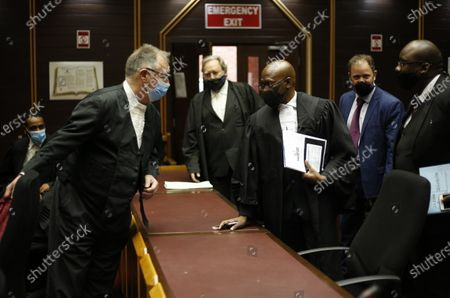 Stock Picture of Legal representatives for the State and former President Jacob Zuma, who was not present, speak ahead of proceedings in the High Court in Pietermaritzburg, South Africa, 08 December 2020. Former South Africa President Zuma faces charges that include fraud, corruption and racketeering. The trial has been postponed until February 2021.