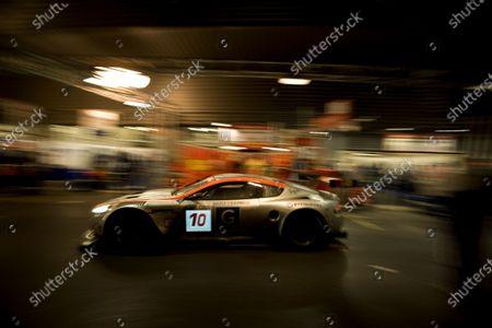 Spa, Belgium. 31st July - 3rd August - 2008. Philipp Peter / Allan Simonsen / Darren Turner / Andy Thompson - Gigawave Motorsport Aston Martin DBR9.  Action.  World Copyright: Drew Gibson/LAT