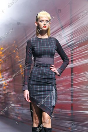 Editorial picture of A model wearing Zoran Aragovic fashion collection on the catwalk at the Bipa Fashion.hr fashion show, Zagreb, Croatia - 26 Oct 2019