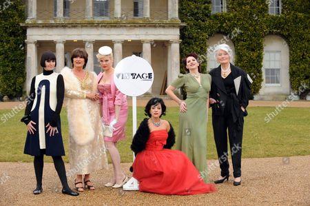 Singer Corinne Drewery, singer Sandie Shaw, model Sara Stockbridge, singer Lily Allen, pin-up model, Kitten Von Mew and model, Lady Bronwen Astor