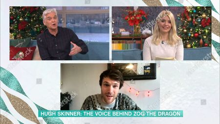 Stock Image of Phillip Schofield, Holly Willoughby and Hugh Skinner