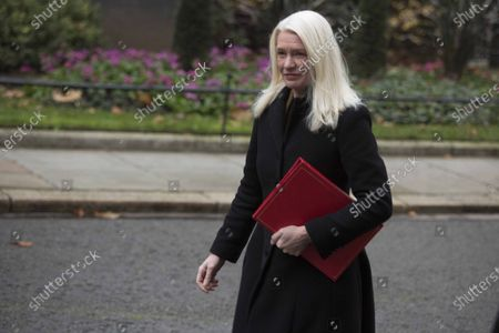 Amanda Milling Co-Chairman of Conservative Party arrives at Downing Street