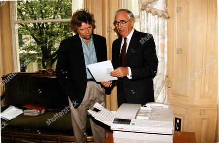Richard Branson (l) And Lord Young Receive The News Of The Failed Lottery Bid. A Furious Richard Branson Hit Out Yesterday After Losing His Bid To Run The New National Lottery. He Condemned The Decision To Award It To A Profit-making Consortium As 'prehaps The Most Crass' Made By Any Government. The Camelot Group Fought Off Seven Rival Biders Including The Wealthy Virgin Boss To Win The Coveted Licence. Tickets Will Go On Sale In Novermber And A Millionaire Will Be Created Each Week With The Top Jackpot Possible 20 Million In What May Be The World's Biggest Lottery Millions Of Pounds Will Go To Good Causes Including Charites The Arts And Sport. ...businessman