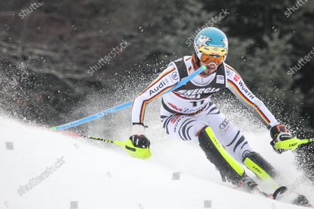Editorial image of Felix Neureuther from Germany competes during the Audi FIS Alpine Ski World Cup Mens Slalom, Snow Queen Trophy 2019, Zagreb, Croatia - 06 Jan 2019