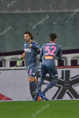 "Federico Marchetti  (Genoa)Alberto Paleari (Genoa)           during the Italian ""Serie A"" match between Fiorentina 1-1 Genoa  at  Artemio Franchi Stadium in Florence, Italy."