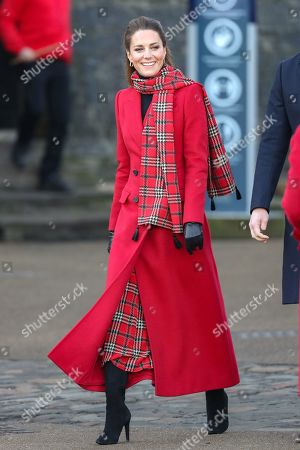 Catherine Duchess of Cambridge attends Cardiff Castle.