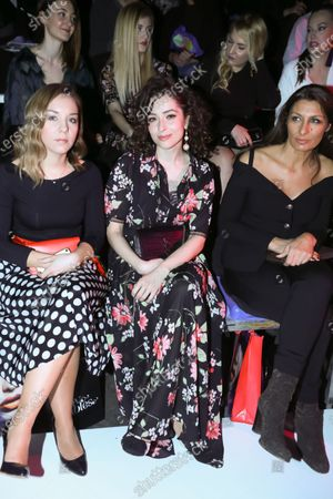Croatian actor Zrinka Cvitesic with her friends on the Bipa Fashion.hr fashion show in Zagreb, Croatia.