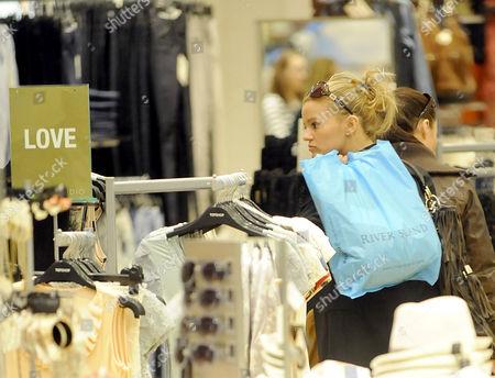 Kerry Croft shopping in Warrington