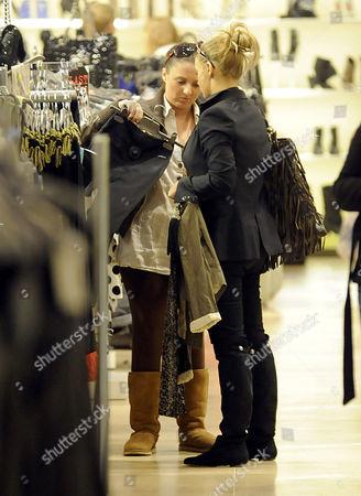 Kerry Croft (R) shopping in Warrington