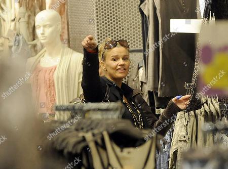 Stock Photo of Kerry Croft shopping in Warrington