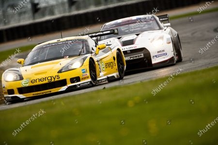 Stock Picture of Silverstone, England. 30th April - 2nd May 2010.  Marc Hennerici / Andreas Zuber, (Phoenix Racing / Carsport, Corvette Z06).  Action.  World Copyright: Drew Gibson/LAT Photographic.  Digital Image _Y2Z4525
