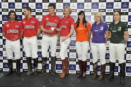 Stock Image of (L to R) Henry Brett, Jamie Morrison, Jack Kidd, Jodie Kidd, Kirsty Craig, Lucy Field and Sarah Wiseman