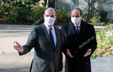 Jean Castex and Abdel Fattah al-Sisi