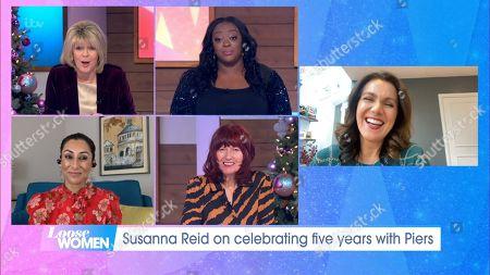Ruth Langsford, Judi Love, Saira Khan, Janet Street-Porter and Susanna Reid