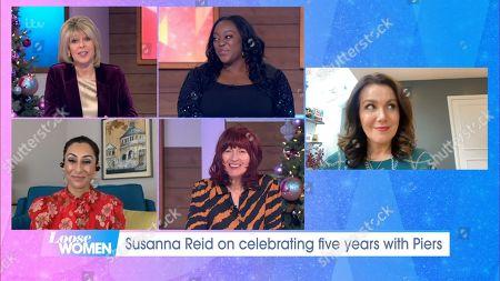 Stock Photo of Ruth Langsford, Judi Love, Saira Khan, Janet Street-Porter and Susanna Reid