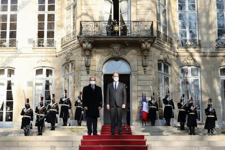 Prime Minister Jean Castex receives Abdel Fattah al-Sisi, President of the Arab Republic of Egypt, for an interview in Matignon, as part of his state visit to France, at the Elysee Palace.