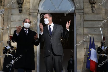 Editorial picture of Prime Minister Jean Castex meets Abdel Fattah Al-Sisi, President of Egypt, Paris, France - 08 Dec 2020