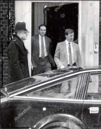 Lord Leon Brittan Sir Leon Brittan Leaving No. 10 Downing Street Baron Brittan Of Spennithorne Politicians