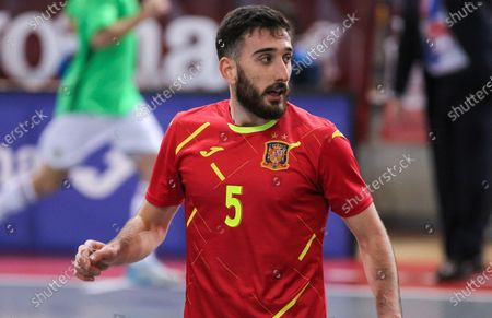 Raul Gomez of Spain during Eurocup qualification futsal match played between Spain and Latvia at Ciudad del Futbol on December 08, 2020 in Las Rozas, Madrid, Spain.