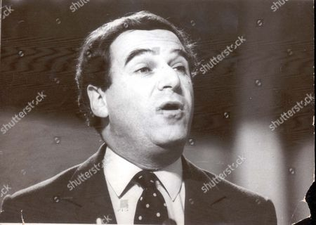 Lord Leon Brittan Sir Leon Britton Mp Speaking At Tory Party Conference At Blackpool Baron Brittan Of Spennithorne ...politicians