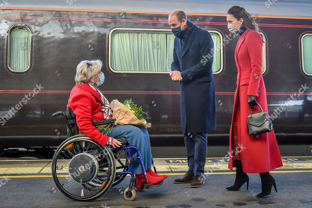 Editorial photo of Prince William and Catherine Duchess of Cambridge arrive at Bath Spa train station, Bath, UK - 08 Dec 2020