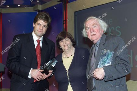 Andrew Rawnsley 'columnist Of The Year 'and Keith Waterhoouse Receiving The Lifetime Achievement Award From Mp Ann Widdecombe At The 'what The Papers Say' Awards. Keith Waterhouse Died 4 September 2009.