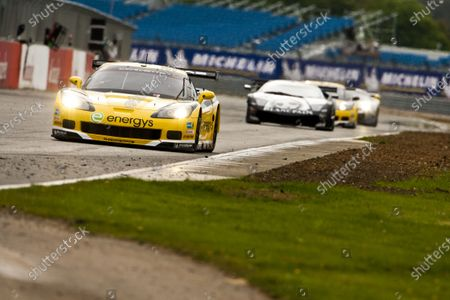 Stock Image of Silverstone, England. 30th April - 2nd May 2010.  Marc Hennerici / Andreas Zuber, (Phoenix Racing / Carsport, Corvette Z06).  Action.  World Copyright: Drew Gibson/LAT Photographic.  Digital Image _Y2Z4403