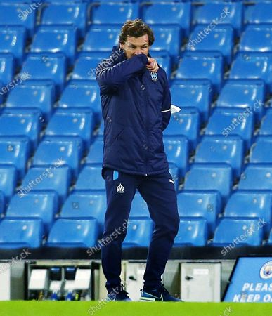 Marseille manager Andre Villas-Boas looks dejected