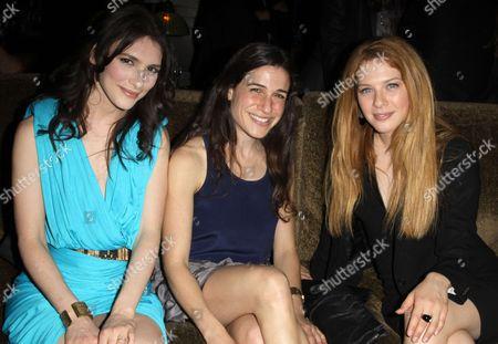 Stock Image of Liane Balaban, Guest and Rachelle Lefevre