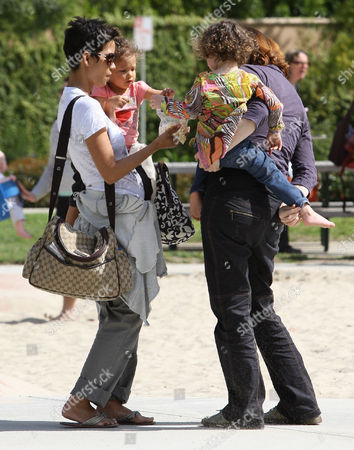 Editorial image of Halle Berry and daughter at Coldwater Canyon Park, Beverly Hills, Los Angeles, America - 05 Mar 2010
