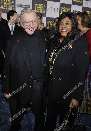 Roger Ebert and wife Chaz Hammelsmith Ebert