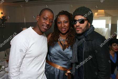 Orlando Jones, Lisa Cortes and Lenny Kravitz
