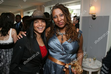 Victoria Rowell and Lisa Cortes