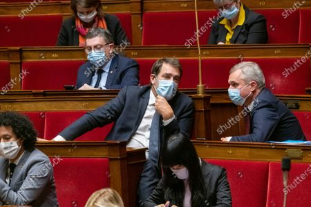 Christophe Castaner and Francois de Rugy during the weekly session of questions to the government at the French National Assembly.