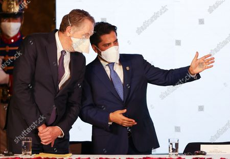 Editorial photo of President of Ecuador Lenin Moreno participates in the Signing of Commerce Agreement with the US, Quito - 08 Dec 2020