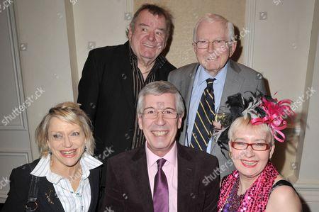 (Left to right) Nikki Kelly, Paul Shane, Jeffrey Holland, David Croft (writer) and Su Pollard.