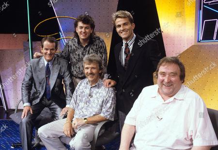 Stock Photo of Adrian Walsh, Shane Richie, Owen Money, Bradley Walsh and Bernard Manning.