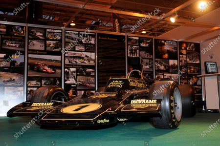 NEC, Birmingham. 8th January 2009. An ex-Ronnie Peterson Lotus 72 Ford Cosworth on the LAT stand in the historic hall. World Copyright: Jeff Bloxham/LAT Photographic