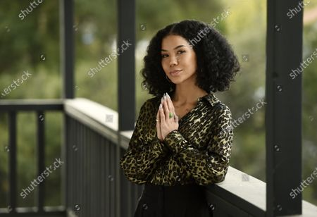 Singer Jhene Aiko poses for a portrait, in Los Angeles