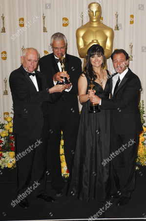 Richard O'Barry, Louie Psihoyos, Paula DuPre Pesmen and Fisher Stevens (Best Documentary Feature, 'The Cove')