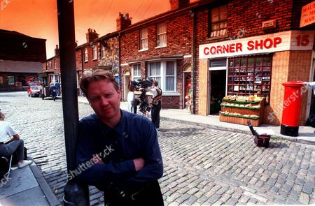 Producer Of Coronation Street Brian Park On The Set Of The Television Programme.