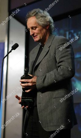 Director Max Stafford-clark Accepts His Special Award For A Lifetime Contribution To Theatre At The 2003 Evening Standard Drama Awards.