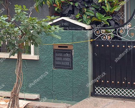 Names Plates Of Three Children Kafeel And Sabeel And Their Sister Sadia At The Front Gate Of Their Home In Bangalore. Sabeel Ahmed Is One Of The Indian Suspects Arrested In Connection With Terrorist Car Bomb Attacks In London And Glasgow In June 2007. Pix Bould Story Fiona Barton